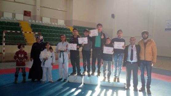 Genç'li karateciler Bingöl'ün gururu oldu
