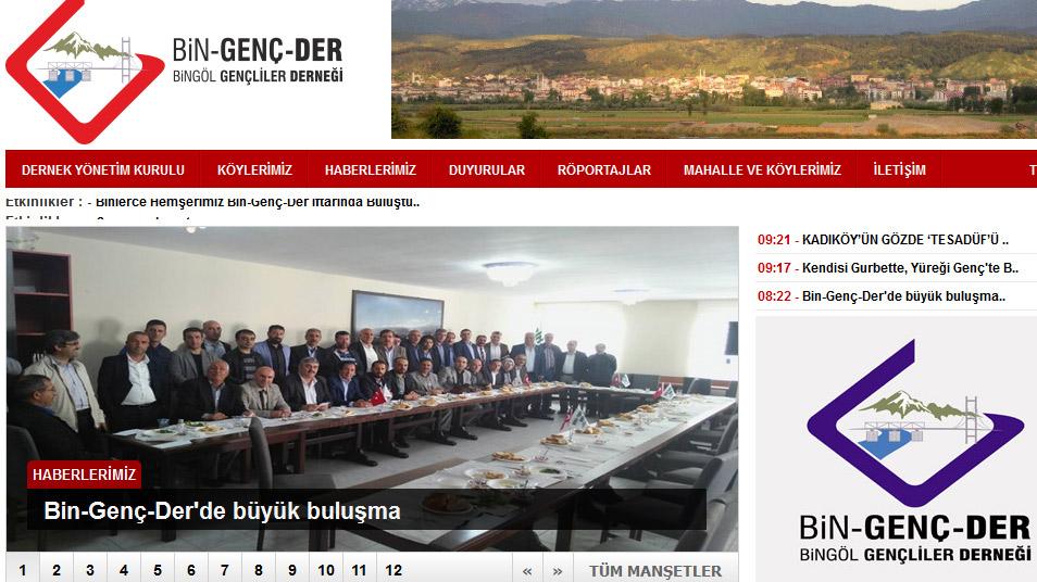 Bin-Genç-Der Web Sitesi Yayına Girdi
