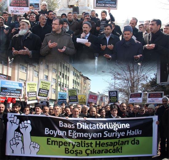 Beşşar Esad, protesto edildi