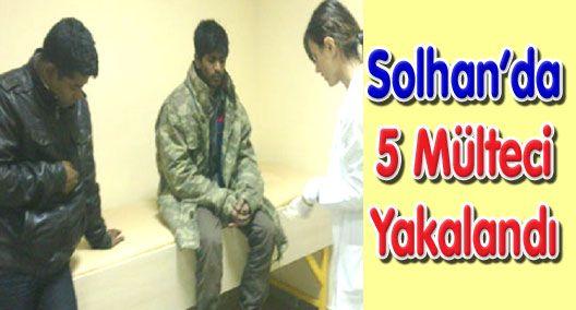 Solhan'da 5 mülteci yakalandı