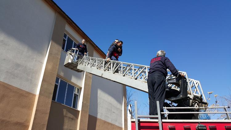İnönü'de kurtarma ve yangın söndürme tatbikatı
