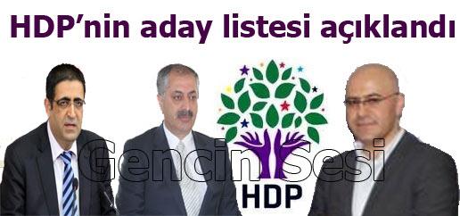 HDP'nin aday listesi açıklandı