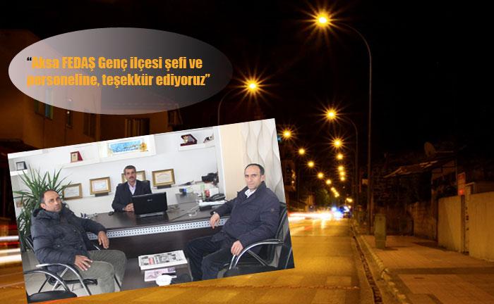 MUHTARLARDAN FEDAŞ'A 'SOKAK LAMBASI' TEŞEKKÜRÜ