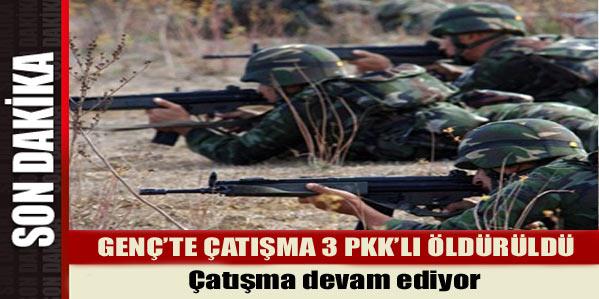 GENÇ'TE ÇATIŞMA: 2 PKK'LI ÖLÜ, 1 PKK'LI DA YARALI ELE GEÇİRİLDİ