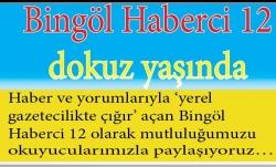 Bingöl Haberci 12 Gazetesi'nin gecesi 25 Mart'ta
