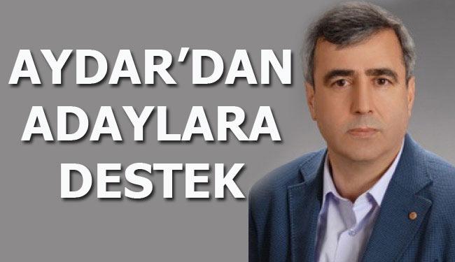 AYDAR'DAN ADAYLARA DESTEK