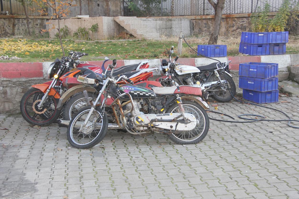 Toplumu rahatsız eden motosikletler toplatıldı