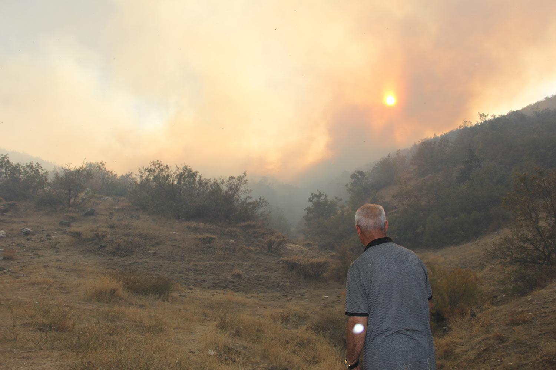 Sürekli ile Keklikdere köyü sınırlarında yangın